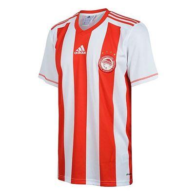 adidas Performance Mens Olympiakos Football Team Home Fan Shirt - XL