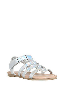 F&F Holographic Gladiator Sandals - Silver