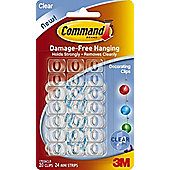 40 x Christmas Light & Decorating Clips & Command Strips - Value Pack 17026clr
