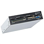 "Akasa USB 3.0 SuperSpeed Internal card reader 3.5"" PC Bay 6 Slots"