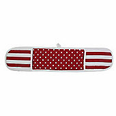 Homescapes Cotton Polka Dot Red White Double Oven Glove