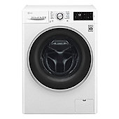 LG F4J6TM1W, 8kg / 5kg Washer Dryer, 1400rpm - White