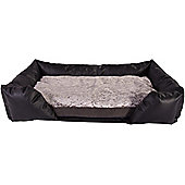 Silentnight Micro-Climate Airflow Dog Bed & Bolster Set - Large - Cuddle Silver