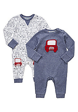 F&F 2 Pack of Car Sleepsuits - Multi