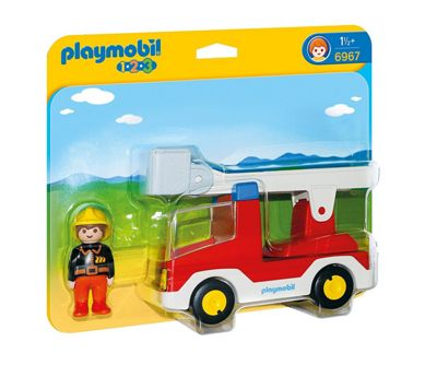 Playmobil 1.2.3 Ladder Unit Fire Truck 6967