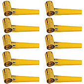 Gold Noisemaker Blowouts - Foil - Value Pack