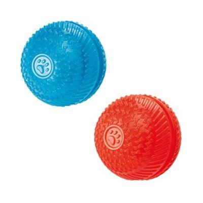 Gor Flex Squeak &Treat Ball (8cm) Blue/Red