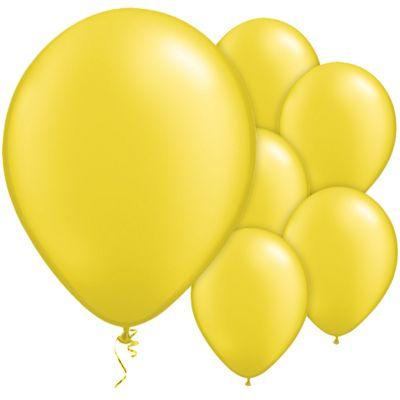 Citrine Yellow 11 inch Latex Balloons - 25 Pack