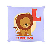 L Is For Lion Lilac Cushion 40 x 40cm