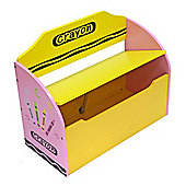 Bebe Style Crayon Childrens Themed Wooden Toy Box & Bench - Pink