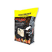 Bar-Be-Quick 15kg Instant Lighting Charcoal (10 x 1.5kg Bags)
