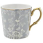 Fox & Ivy Grey Pastel Aviary Mug