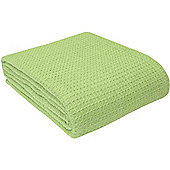 Homescapes Organic Cotton Waffle Baby Blanket Sage Green, 90 x 112 cm