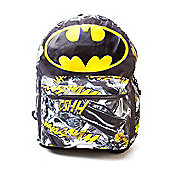 Dc Comics Batman Big Logo With Comic Artwork Backpack, Black/yellow (bp0hbdbtm) - Accessories