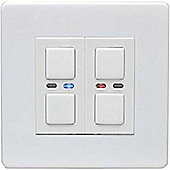 Megaman LightwaveRF Double Slave Dimmer - White