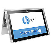 "HP 10.1"" X2 Intel Atom 2GB RAM 32GB eMMC Storage 2 in 1 detachable Silver Laptop"