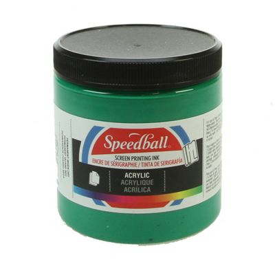 Speedball Acrylic Screen Printing Ink - Emerald Green 236ml