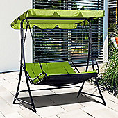 Outsunny Canopy Swing Chair Garden Outdoor Backyard with Cushion - Green