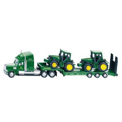 Low Loader With John Deere Tractors - Scale 1:87 - Siku