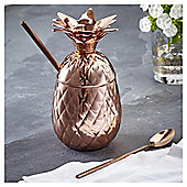 Fox & Ivy Copper Pineapple Cup with Straw