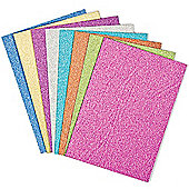 Glitter Cards With Envelopes for Children to Make Create and Personalise Easter Cards (Pack of 8)