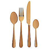 Viners Rose Gold Titanium 16 Piece Cutlery Set Canteen