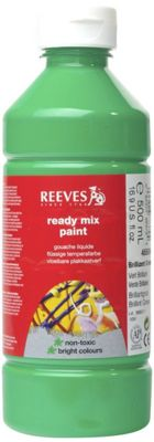 Reeves 500ml Ready Mix Paint - Brilliant Green