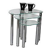 Corona Nest of 3 Table - Clear