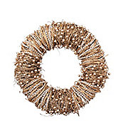 Gold Beaded Christmas Door Wreath
