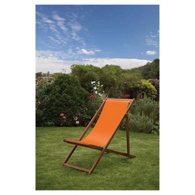 Windsor Wooden Deck Chair - Burnt Orange