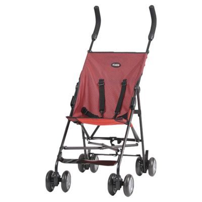 Kiddu Tot Lightweight Buggy, Black/Red