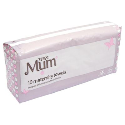 Tesco 10 Maternity Towels