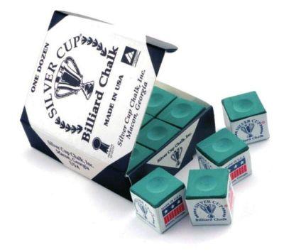 Silver Cup Billiard Chalk (12 Pieces) - Chalk Colour : Green