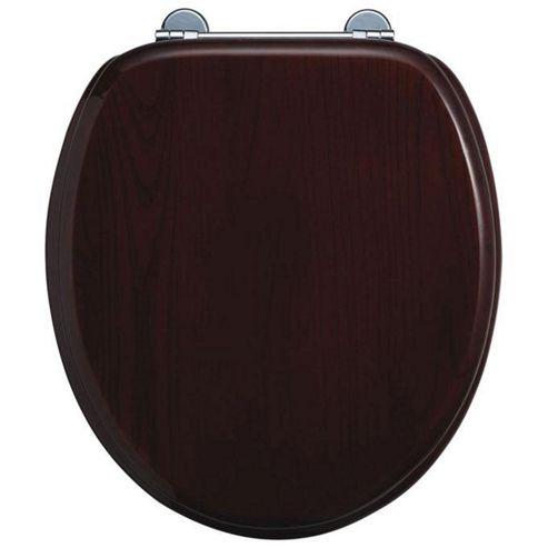 Burlington Mahogany WC Seat with Bar Hinge