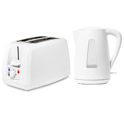Brabantia BQPK05 White Breakfast Kettle and 2 Slice Toaster Set