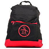 Original Penguin Classic Backpack Rucksack Bag Black/Red