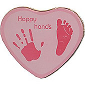 Happy Hands plaster cast memento - Pink for a Baby Girl