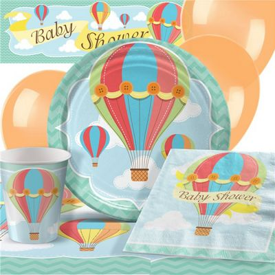 Up, Up and Away Baby Shower Party Pack - Deluxe Pack for 8