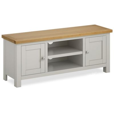 Farrow Painted 120cm TV Stand - Matt Stone Grey