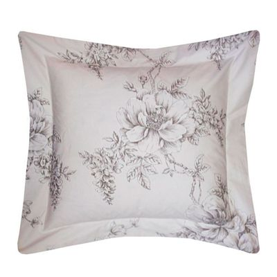 Holly Willoughby 'Jenna' Pink and Grey Floral Cushion, 45 x 45 cm