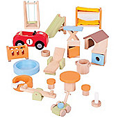 Bigjigs Toys Heritage Playset Doll Furniture Set (Home and Garden)