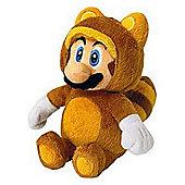 Super Mario Bros Plush Tanooki Mario