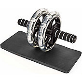 ProWorks Black and White Ab Roller with Mat