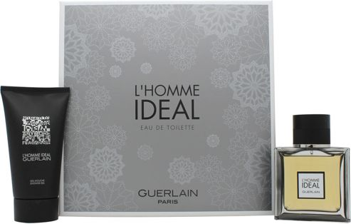 Guerlain L'Homme Ideal Gift Set 50ml EDT Spray + 75ml Shower Gel For Men