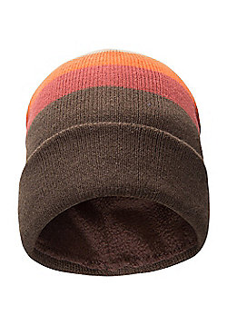 Mountain Warehouse Stripe Mens Beanie - Brown