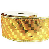 Ribbon Wired Edge - 2.5inches x 10y - Metallic Gold