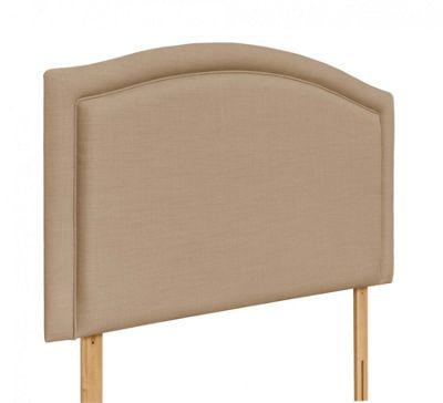Swanglen Paris Gem Fabric Headboard with Wooden Struts - Oatmeal - Single 3ft