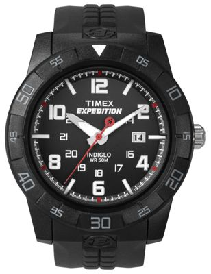 Timex Expedition Mens Rubber Backlight Date Watch T49831