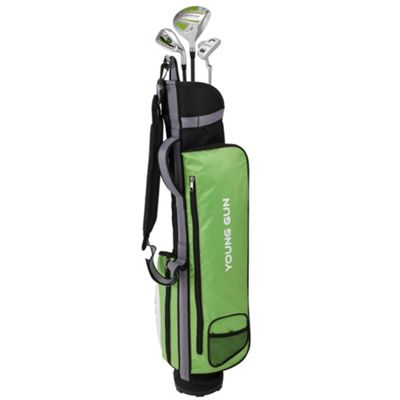 Young Gun Zaap Eagle Junior Kid Right Hand Golf Set + Bags Age 12-14 Green