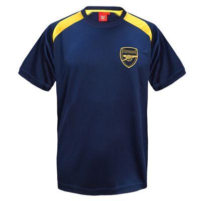 Arsenal FC Boys Poly T-Shirt Navy 6-7 Years SB